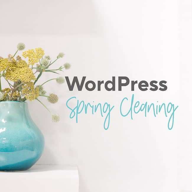 WordPress Spring Cleaning