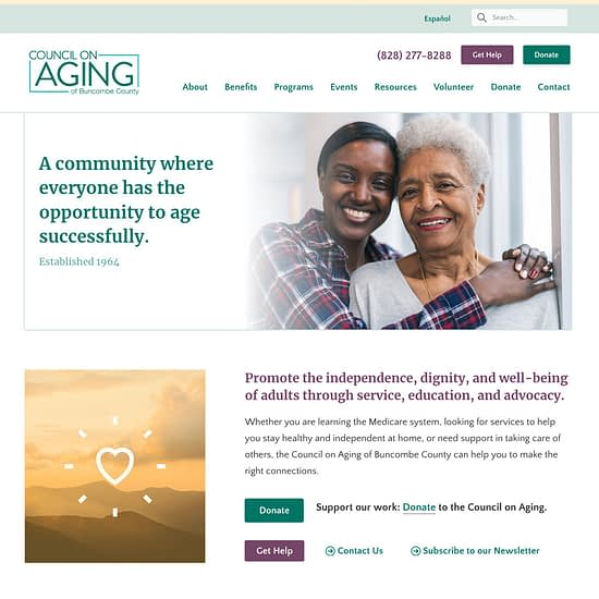 Council on Aging of Buncombe County website