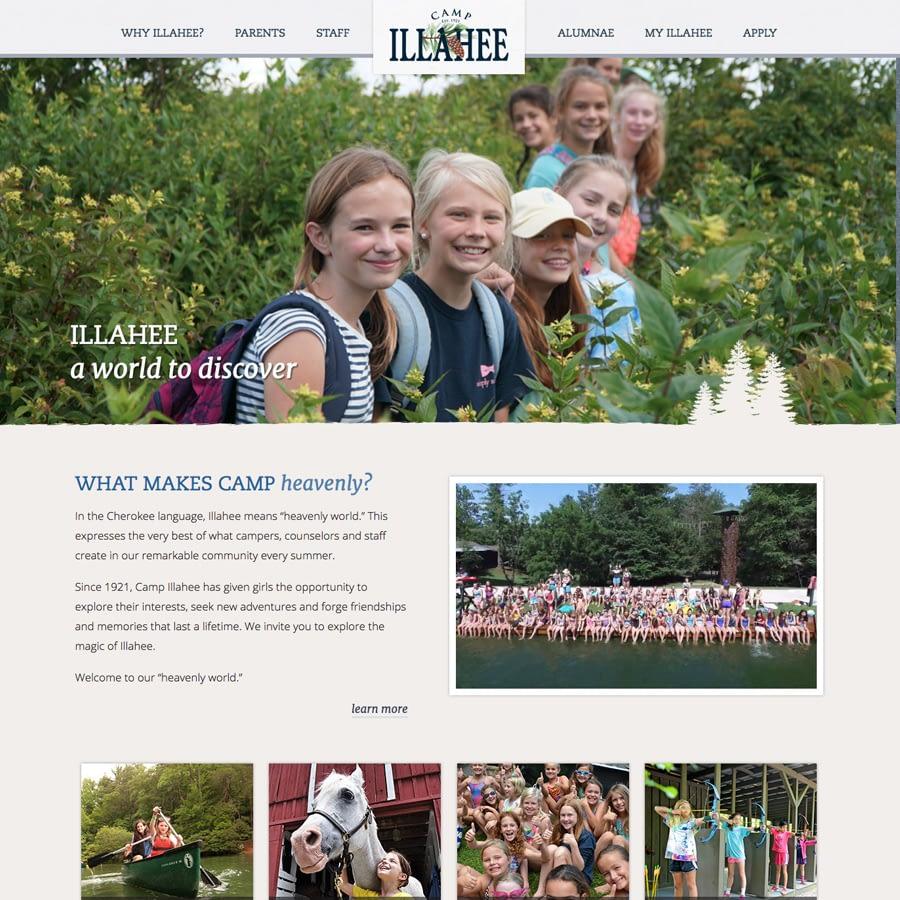 Camp for Girls in Brevard website screenshot